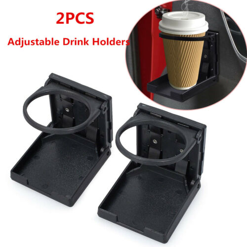 2X Universal Plastic Folding Bottle Cup Drink Holder For Vehicle Car Truck Boat