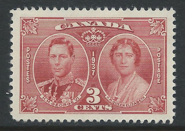 Canada #237(3) 1937 3 cent carmine KING GEORGE VI & QUEEN ELIZABETH MH