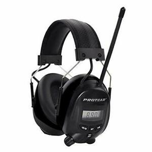 Rechargeable Ear Defenders with Bluetooth and FM//AM Radio Protear Noise...