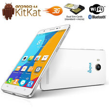 "Indigi Unlocked DualCore 5.0"" Android 4.4 DualSim 3G Smart Phone AT&T T-Mobile"
