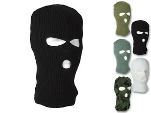 Mil-Tec-Balaclava-Pan-3-Trou-Tempete-Capot-Masque-Masque-De-Ski-Noir-Olive