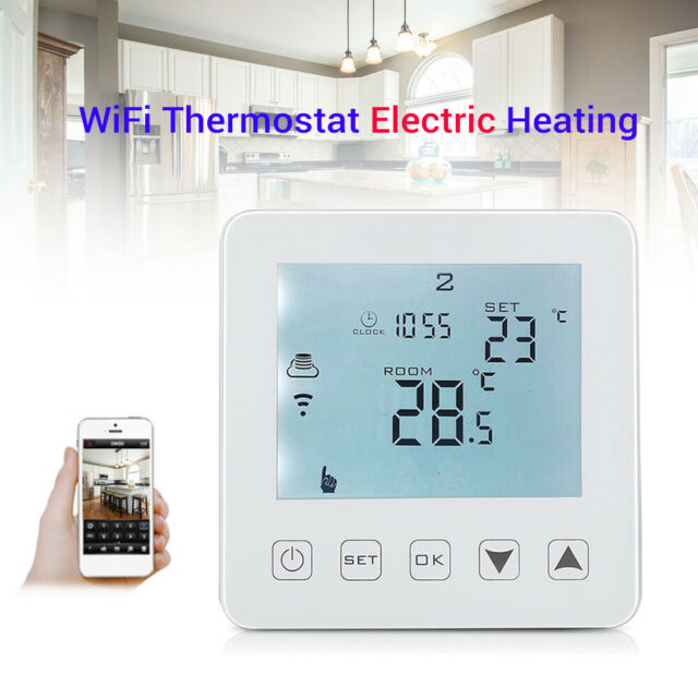 HY08WE-4 WiFi Thermostat Electric Heating LCD Smart Home Wireless Amazon Alexa