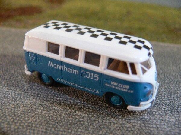 1 87 87 87 Brekina   1721 VW t1 B VW club Mannheim 2015 colección 20ad92