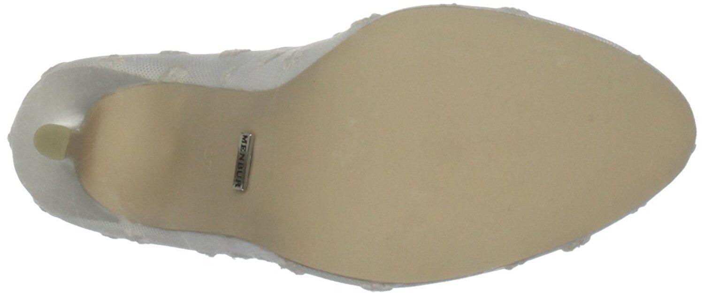 SIZE UK IVORY 5.5 6 MENBUR LIA IVORY UK TULLE LACE SATIN BRIDAL WEDDING Schuhe 1ce220