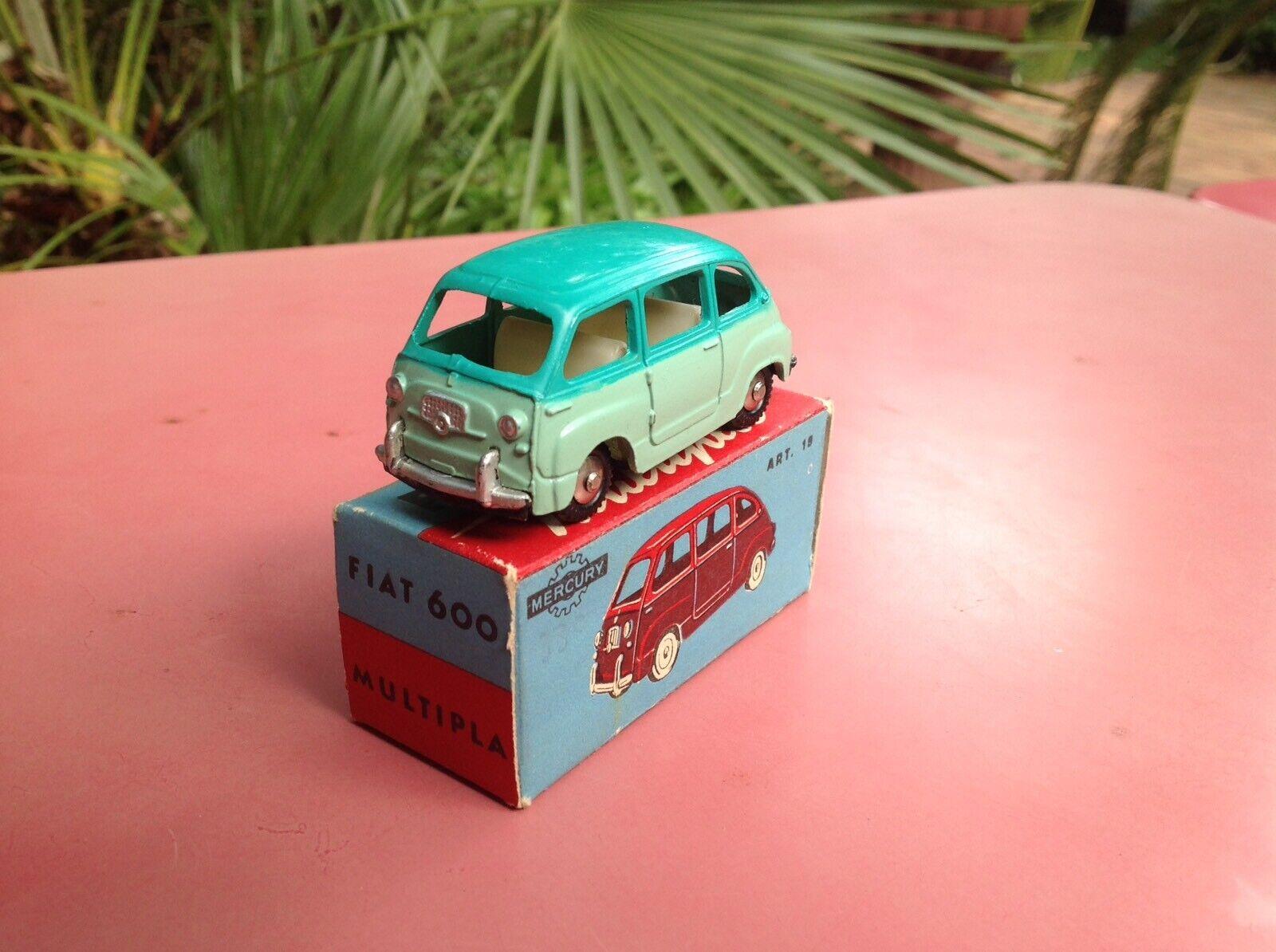 Mercury Art. 19 Fiat 600 Multipla Very Scarce Color Mint in box So Dinky