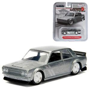 Jada-1-64-JDM-Tuners-Die-Cast-1973-Datsun-510-Car-Silver-Model-Collection