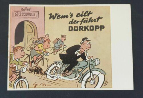 Tolle AK aus der Zeit um 1950 Werbepostkarte Dürkopp Fahrräder /& Mopeds