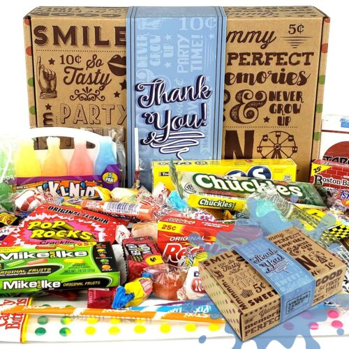 THANK YOU GIFT BASKET CANDY BOX For Men Or WomenSAY THAN... Vintage Candy Co