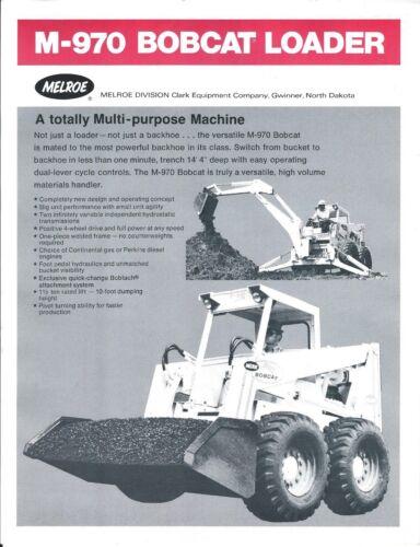Equipment Brochure - Bobcat M-970 Skid Steer Loader - Ram Hammer 2 items (E4312)