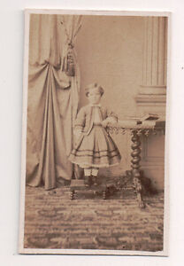 Vintage-CDV-Young-Girl-on-a-step-stool-French