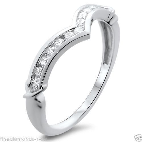 0.25ct Round Diamonds Wishbone Shaped Half Eternity Ring,9K White &Yellow gold