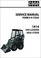 Case 1816 Uniloader Skid Steer Repair Manual Form 9 72555 Print Version
