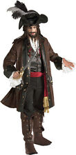 Deluxe Caribbean Pirate Costume Johnny Depp Grand Heritage Costume Size XLarge
