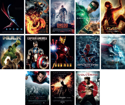 Movie Super Heroes Batman Ironman Hulk Thor Art Poster Print Buy 1 get 2 FREE