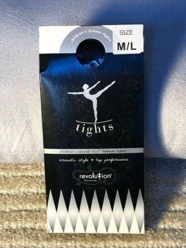 Competition//Recital Sizes Child M//L Through Adult L//XL New Black Fishnet Tights