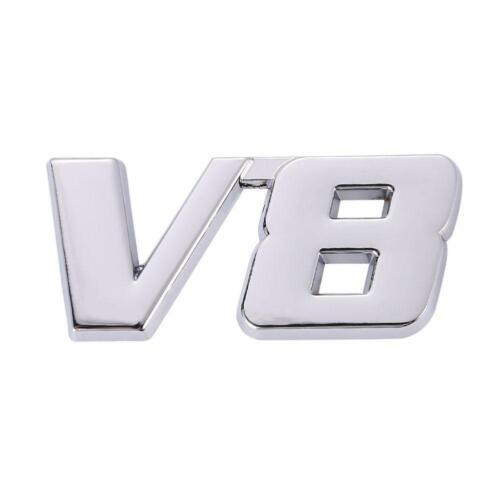 3D Chrome Metal V8 Car Auto Tailgate Sticker Trunk Lid Emblem Badge Decal