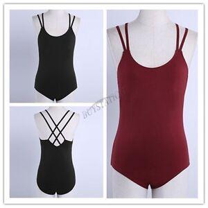 Theatricals Classwear Dancewear NWT Black Girls Tank Cotton Dance Leotard