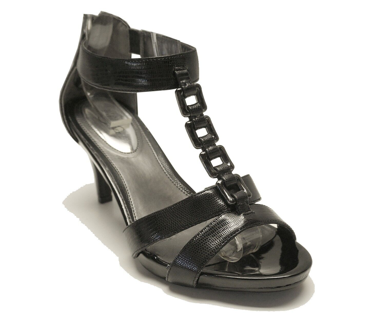 New! Alfani Black T-Strap Sz Sandal Heels CHARISMA Women's Shoes Sz T-Strap 8.5 e3dc54