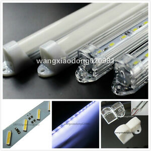 10pcs-50cm-8520-36SMD-LED-strip-Aluminum-case-milk-clear-white-cover-end-cap-12V
