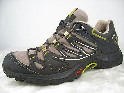 Salomon Ellipse GTX Hiking Gore Tex Shoes US Womens Sz 10 Grey Black 308937 GUC   eBay