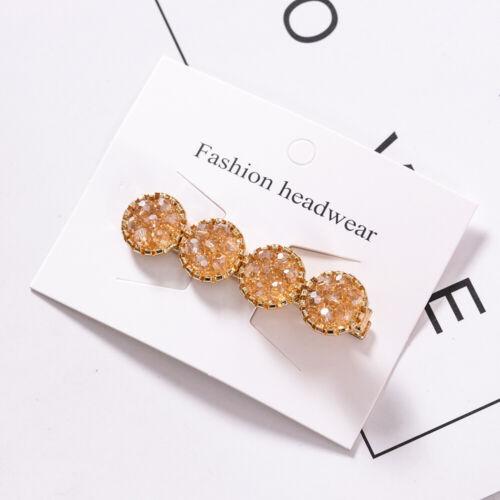 Crystal Hair Clip Barrettes Fashion For Women Handmade Hairpins Accessories Dw