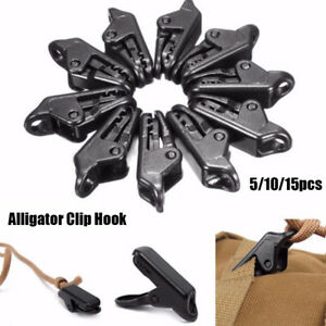 Tent Awning Canopy Clamp Alligator Clip Hook Camping Tent Tarp Clips Holder Tool