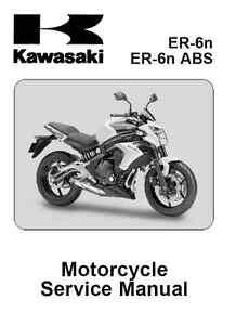 2012 2013 2014 2015 kawasaki er 6n er6n motorcycle service manual in rh ebay co uk kawasaki er6n 2013 manual kawasaki er6n 2013 manual