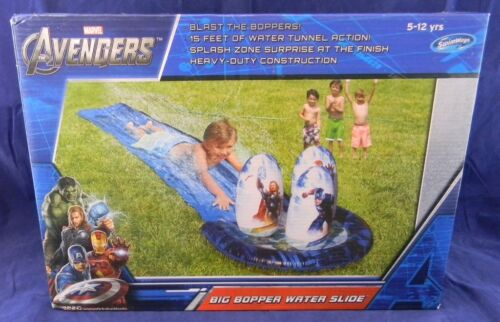 Slip N and Slide AVENGERS BIG BOPPER WATER SLIDE - 15 FT -  Kids Pool Toy