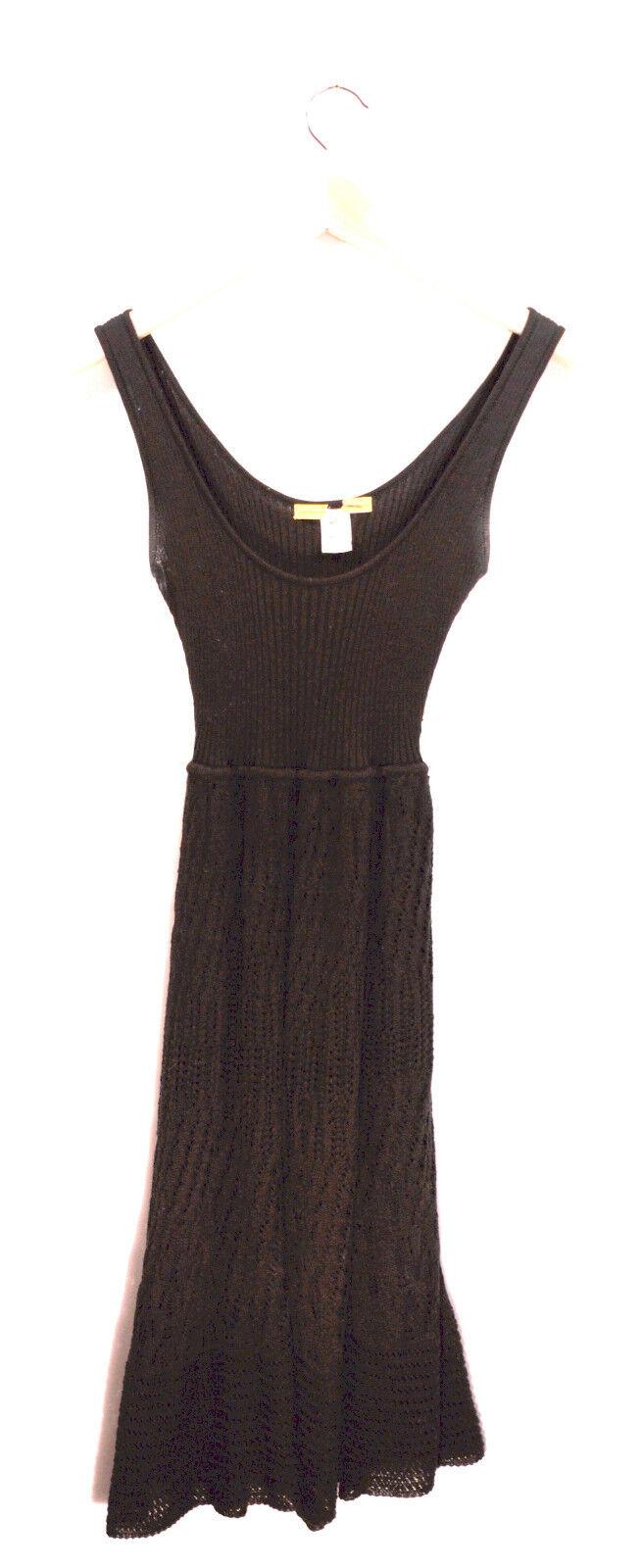 Small Catherine Malandrino schwarz Cotton Knit Dress