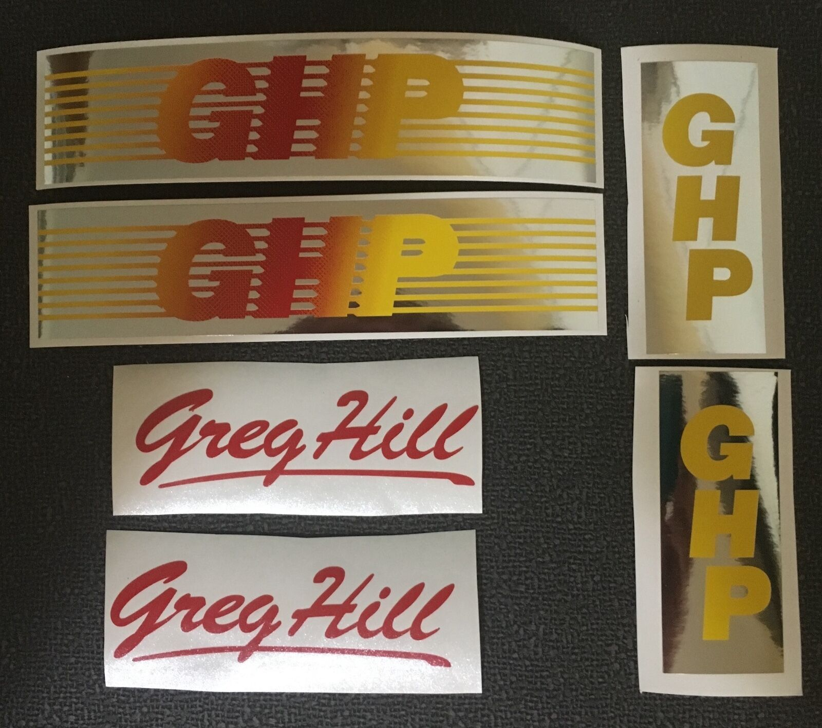 1983-84 GHP FRAME orange to Yellow FADE DECAL SET - For Restoration