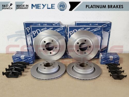 FOR BMW E46 320D 320CD 320 CD FRONT REAR MEYLE PLATINUM BRAKE DISCS PADS SET