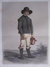 1872 PRINT SWEDISH PEASANT COSTUME ~ DISTRICT OF LJUNITZ Skanska Folkdragter