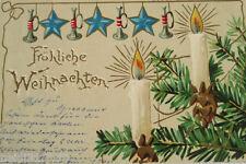 """""""Weihnachten, Weihnachtsbaum, Kerzen, Schmuck"""" 1903, Prägekarte♥(20914)"""
