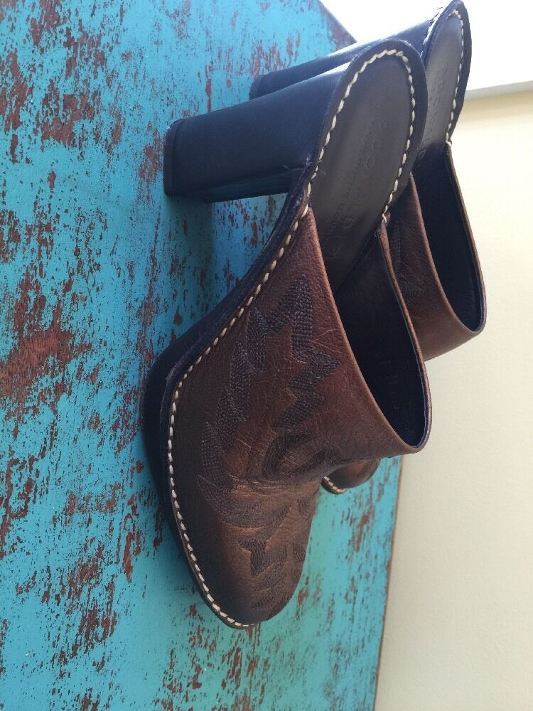 Donald J Pliner Western Cowboy Mules SlipOns Meta… - image 12