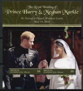 Bequia-Gren-St-Vincent-2018-MNH-Prince-Harry-amp-Meghan-Royal-Wedding-2v-SS-Stamps