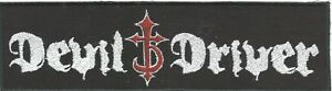 DEVIL-DRIVER-logo-EMBROIDERED-STRIP-SEW-ON-PATCH-no-longer-made