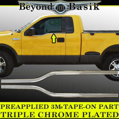 2004-2008 Ford F150 2Dr Regular Cab Chrome Window Sill Covers Trims Overlays