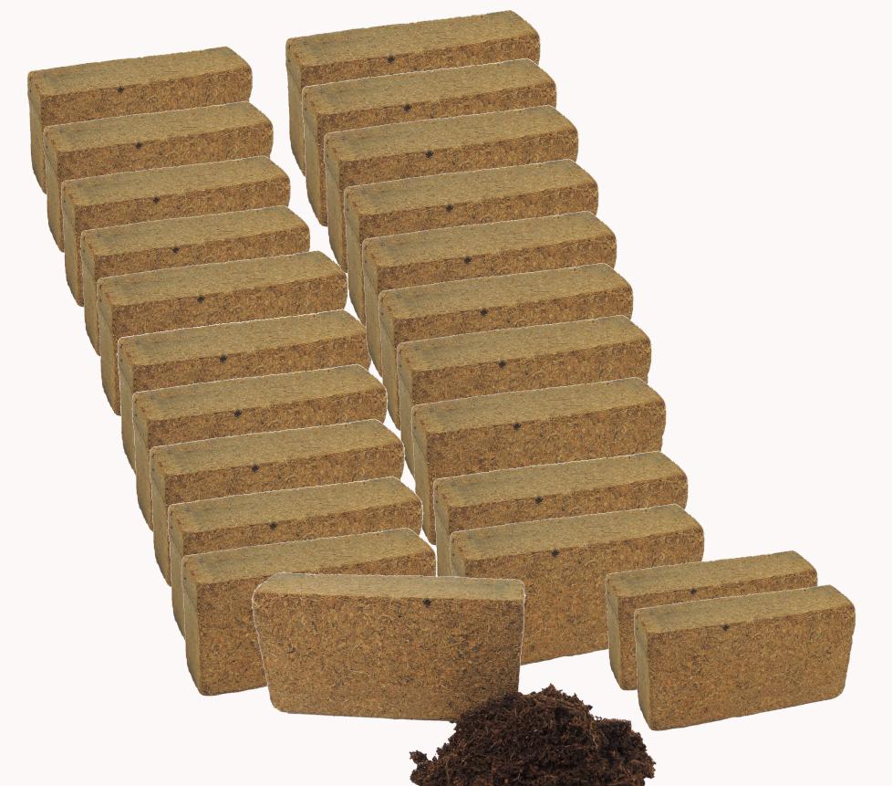 24er Set Coconut Soil Coconut Substrate Potting Soil Ungedüngt Peat-Free