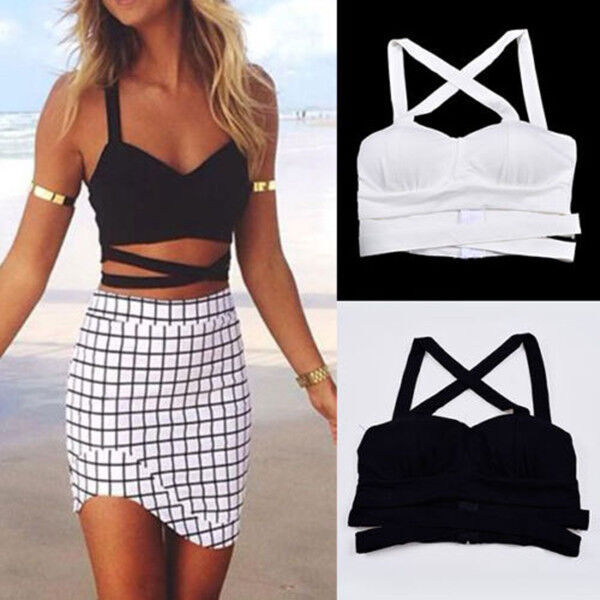 New Fashion Women Tank Tops Bustier Bra Vest Crop Top Bralette Blouse
