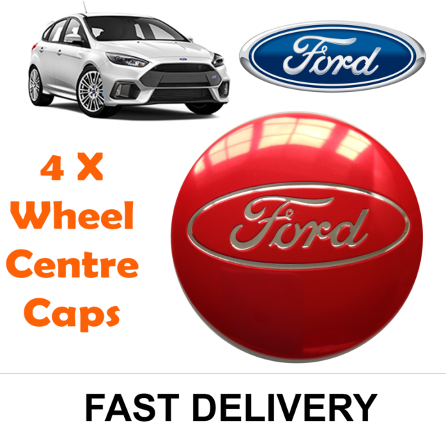 4x RED FITS MOST NEW MODELS 54MM ALLOY WHEEL CENTRE CAPS