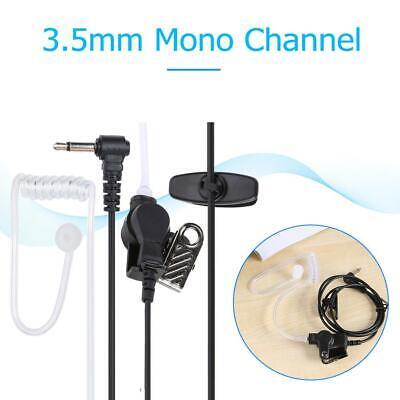 New Straight Listen Only Transparent flexible Earpiece Headset 3.5mm mono jack