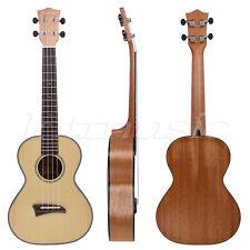 Kmise 26 Inch Solid Spruce Tenor Ukulele Hawaii Acoustic Guitar Mahogany