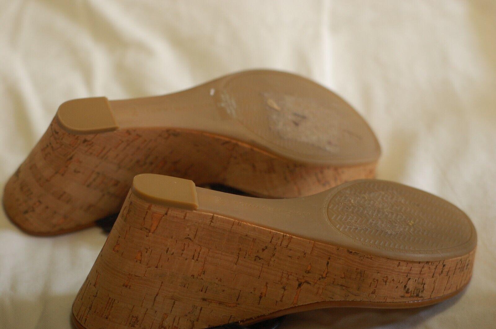 Tommy Hilfiger Black Leather Thong Sandals Cork W… - image 5