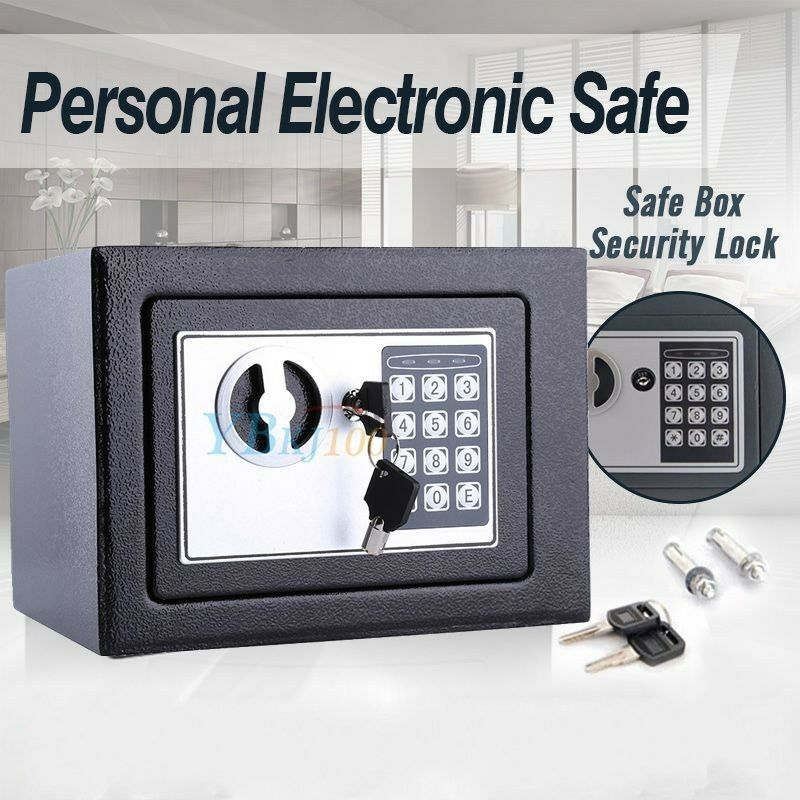 personal small digital electronic safe box keypad lock cash home office security ebay. Black Bedroom Furniture Sets. Home Design Ideas