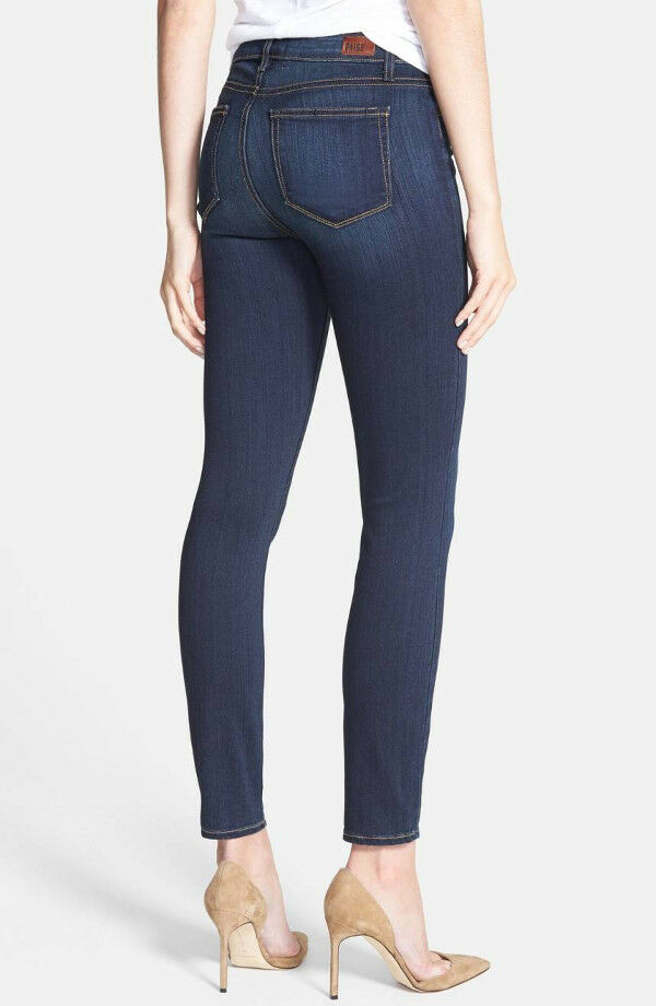 NWT PAIGE PREMIUM DENIM Hoxton High-Rise Ankle Skinny Stretch Jeans Size 29 LISE