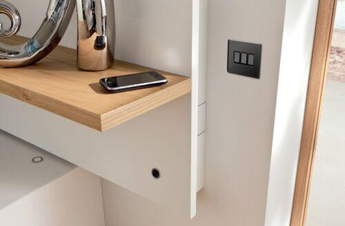 Mega Socket Screwless Slim Flatplate Light Socket /& Switches BLACK NICKEL Range