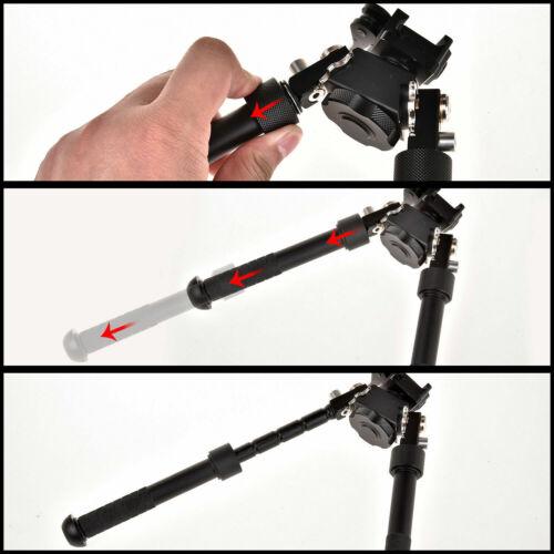 "Xhunter V8 Rifle Bipod Quick Detach Mount 6.5-9/"" Adjustable 20mm Picatinny Rail"