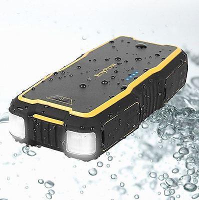 Portable Jump Starter Car Power Pack 18000mAh Heavy Duty Waterproof V6 V8 Engine