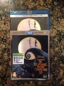 The-Nightmare-Before-Christmas-3D-Blu-ray-DVD-2011-3-Disc-Digital-NEW-Authentic