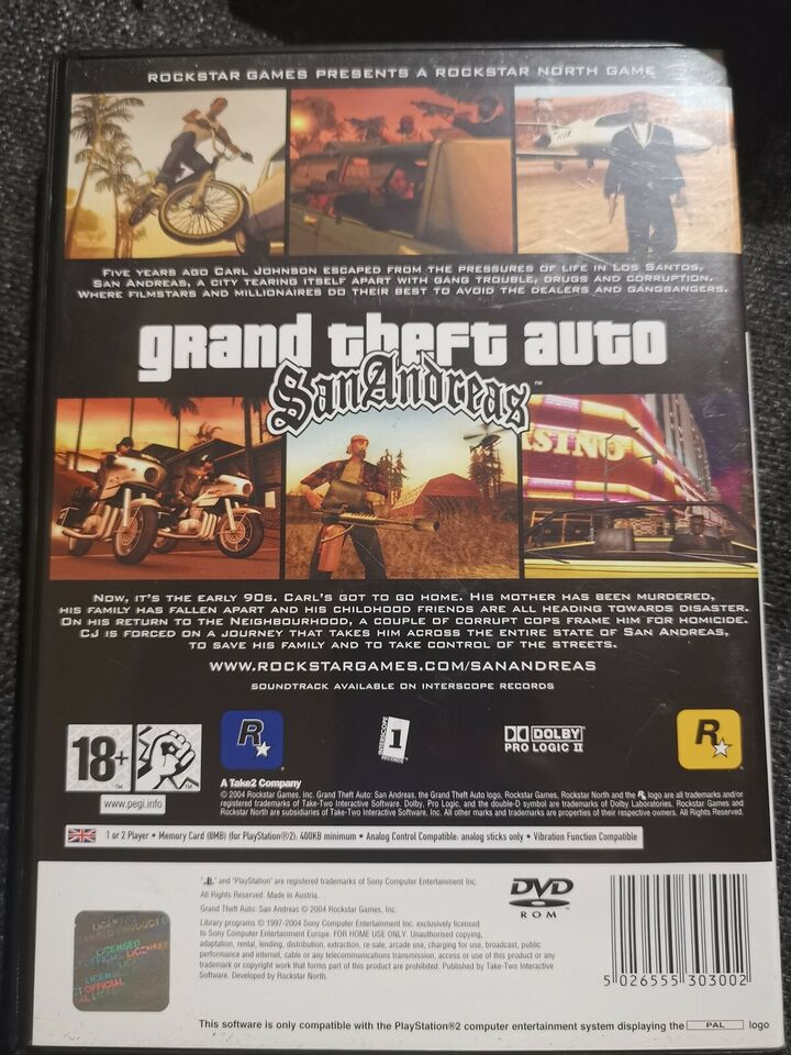 GTA SAN Andreas , PS2, action
